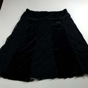 NWT Studio Y Stretch Waist Lined Velvet Lace Skirt